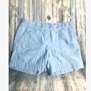 J. Jill 100% cotton blue shorts